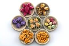 Modello dolce tailandese del dessert isolato sui precedenti bianchi Fotografia Stock Libera da Diritti