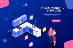 Modello domestico dell'insegna di web del pianificatore royalty illustrazione gratis