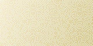 Modello dorato del fondo del modello di festa del nuovo anno o di Natale per progettazione della cartolina d'auguri Oro di vettor Immagine Stock Libera da Diritti