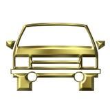 Modello dorato dell'automobile Fotografia Stock