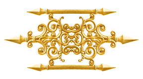 Modello dorato della lega Immagine Stock Libera da Diritti