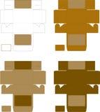 Modello dorato della scatola Fotografie Stock