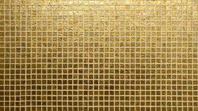 Modello dorato delle mattonelle Immagini Stock Libere da Diritti