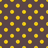 Modello dorato delle monete del dollaro, dell'euro, della sterlina e di Yen Immagine Stock