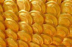 Modello dorato di arte Immagini Stock