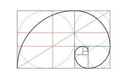 Modello dorato di progettazione di vettore di rapporto illustrazione vettoriale