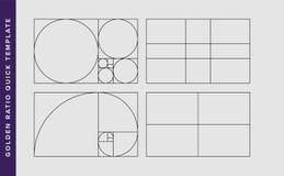 Modello dorato di progettazione di vettore di rapporto illustrazione di stock