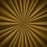 Modello dorato radiale del tessuto Fotografia Stock Libera da Diritti