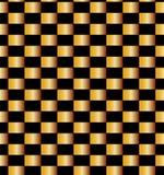 Modello dorato senza cuciture dei mattoni su fondo nero Adatto a tessuto, a tessuto e ad imballaggio illustrazione di stock