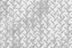 Modello e fondo del piatto del diamante del metallo Immagini Stock Libere da Diritti
