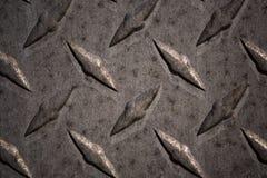 Modello e fondo del piatto del diamante del metallo senza cuciture Fotografia Stock Libera da Diritti
