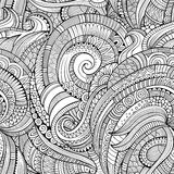 Modello eamless floreale della natura disegnata a mano decorativa astratta di vettore Fotografia Stock