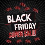 Modello eccellente nero dell'insegna di vendita di venerdì royalty illustrazione gratis