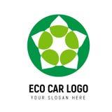 Modello ecologico di logo di trasporto logotype illustrazione vettoriale