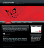 Modello editable di Web site di vettore Fotografie Stock