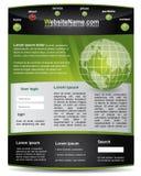 Modello editable verde e nero di Web site royalty illustrazione gratis