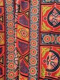 Modello egiziano del tessuto della tenda Immagini Stock