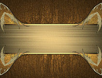 Modello elegante dell'oro per testo su struttura di legno illustrazione vettoriale