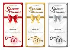 Modello elegante della carta del buono di regalo o di regalo illustrazione di stock