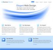 Modello elegante di disegno di Web site Fotografie Stock