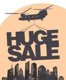 Modello enorme di disegno di vettore di vendita royalty illustrazione gratis