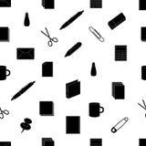 Modello eps10 del nero dell'icona dell'ufficio Royalty Illustrazione gratis