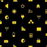 Modello eps10 delle icone di indicazione del pc e del computer portatile Illustrazione Vettoriale