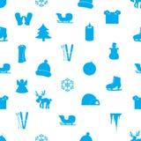 Modello eps10 delle icone di inverno Illustrazione Vettoriale