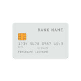 Modello esatto della carta di credito di dimensione royalty illustrazione gratis