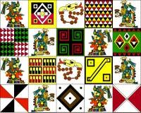 Modello etnico degli indiani americani: gli Aztechi, il Mayans, le inche Illustrazione di vettore Immagine Stock