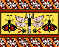Modello etnico degli indiani americani: gli Aztechi, il Mayans, le inche Illustrazione di vettore Fotografia Stock Libera da Diritti