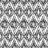Modello etnico del ikat in bianco e nero senza cuciture di vettore Illustrazione Vettoriale