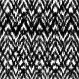 Modello etnico del ikat senza cuciture in bianco e nero di vettore Illustrazione di Stock