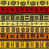 Modello etnico disegnato a mano africano, backgrou tribale illustrazione di stock
