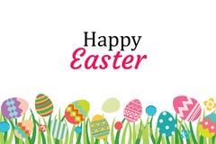 Modello felice del fondo dell'uovo di Pasqua Può essere usato per accogliere illustrazione di stock