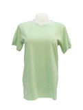 Modello femminile della maglietta sul manichino su bianco Fotografia Stock Libera da Diritti