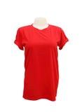 Modello femminile della maglietta sul manichino su bianco Immagini Stock