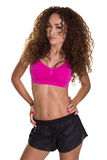 Modello femminile di forma fisica in breve ed il reggiseno di sport. Immagine Stock Libera da Diritti