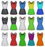 Modello femminile normale del vestito dal netball isolato su bianco Fotografia Stock
