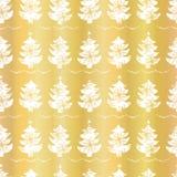Modello festivo di lusso della candela degli alberi di Natale della stagnola di oro illustrazione di stock