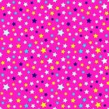Modello festivo e luminoso della notte stellata - fondo per i partiti e la celebrazione dei bambini Illustrazione di vettore, mod fotografia stock libera da diritti