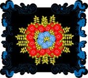 Modello, fiori floreali, modello elegante di stile, maglione Fotografia Stock Libera da Diritti