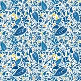 Modello floreale blu illustrazione vettoriale