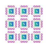 modello floreale blu rosa fotografie stock