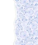 Modello floreale con carta lacerata Fotografia Stock