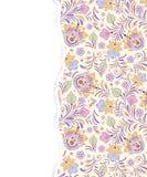 Modello floreale con carta lacerata Fotografia Stock Libera da Diritti