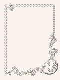 Modello floreale d'annata degli elementi della pagina Fotografia Stock