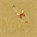 Modello floreale decorato astratto illustrazione di stock