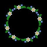 Modello floreale del cerchio su fondo scuro Vettore Fotografia Stock Libera da Diritti