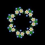 Modello floreale del cerchio su fondo scuro Vettore Fotografia Stock